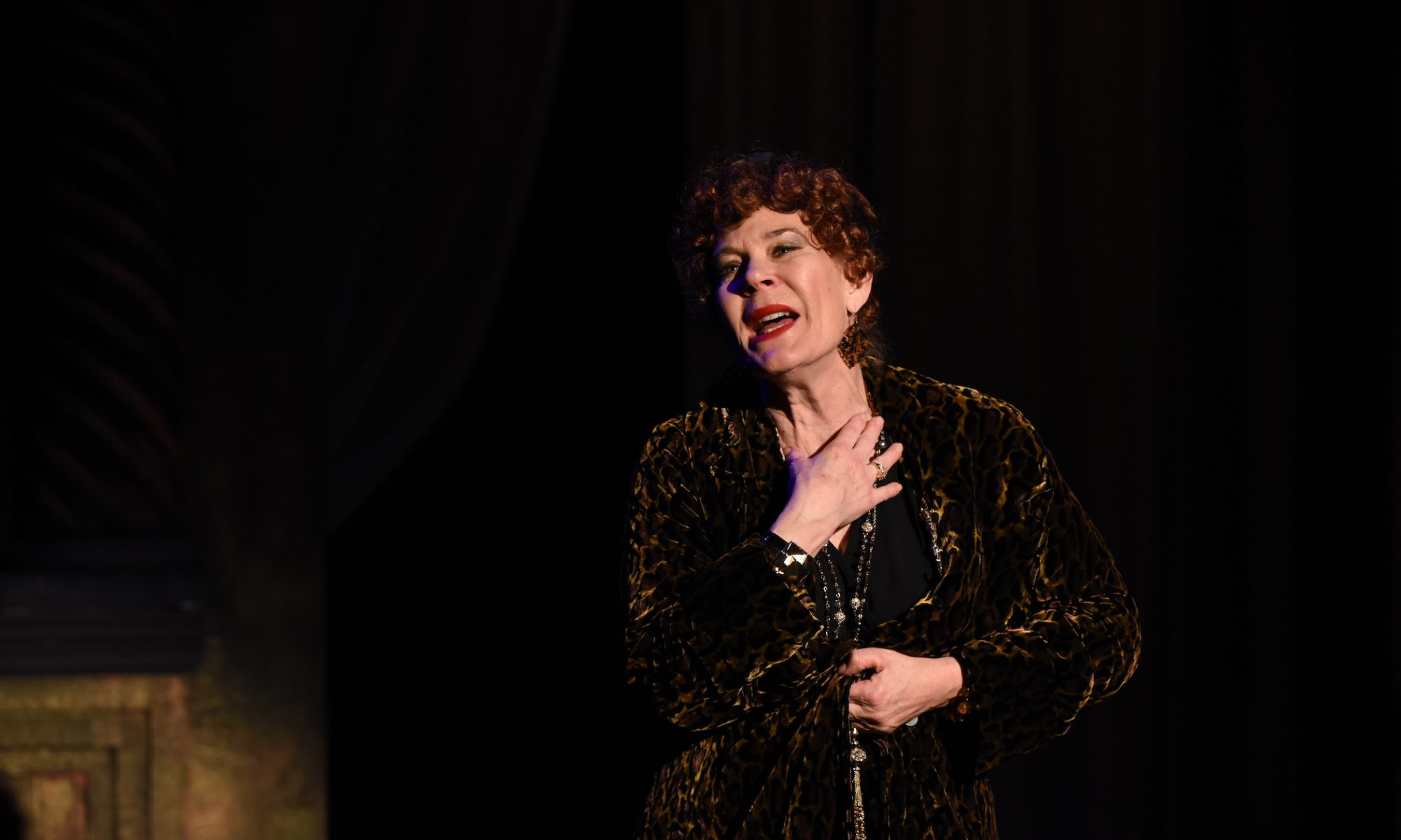 Hollis Resnick as Norma Desmond. Photo by Michael Courier.